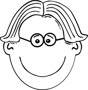 Smiling Brown Haired Boy With Glasses PNG Clip art