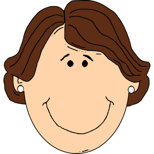Another Smiling Brown Hair Lady PNG Clip art