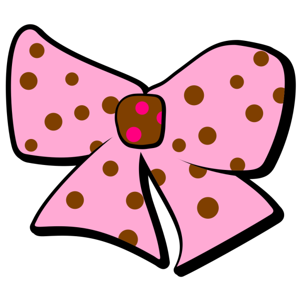 Pink And Brown Bow PNG image