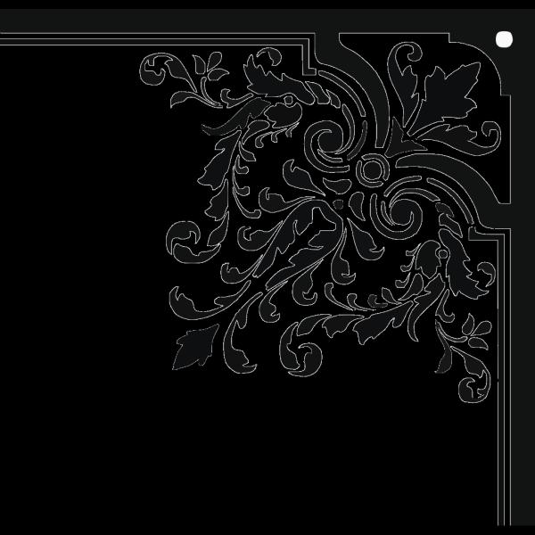 Corner Floral Ornament PNG Clip art