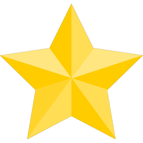 Yellow Star 2 PNG Clip art