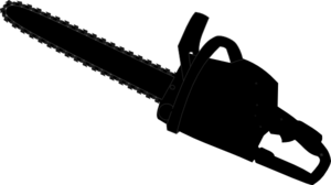Chainsaw Black Outline PNG Clip art