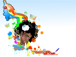 Black Woman Rainbow PNG Clip art