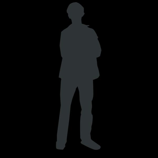 Blue Person Outline PNG Clip art