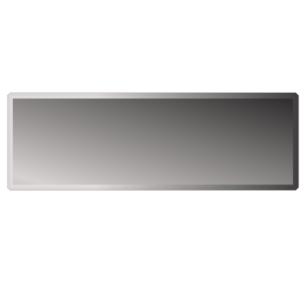 Silver Rectangle Button PNG Clip art