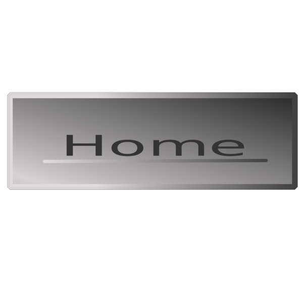Silver Rectanglehome Button PNG Clip art