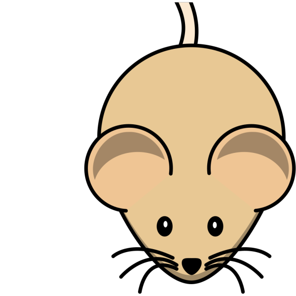 C3h Mouse Short Tail PNG Clip art