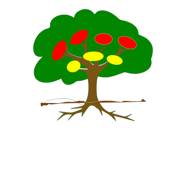 Brow Tree Outline PNG Clip art