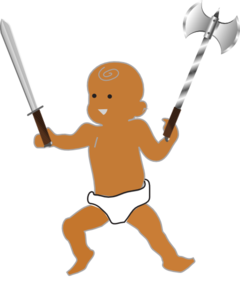 Infant Warrior PNG Clip art