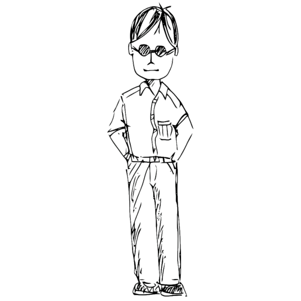 Standing Person PNG Clip art