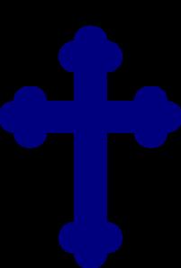 Navy Blue Cross PNG Clip art