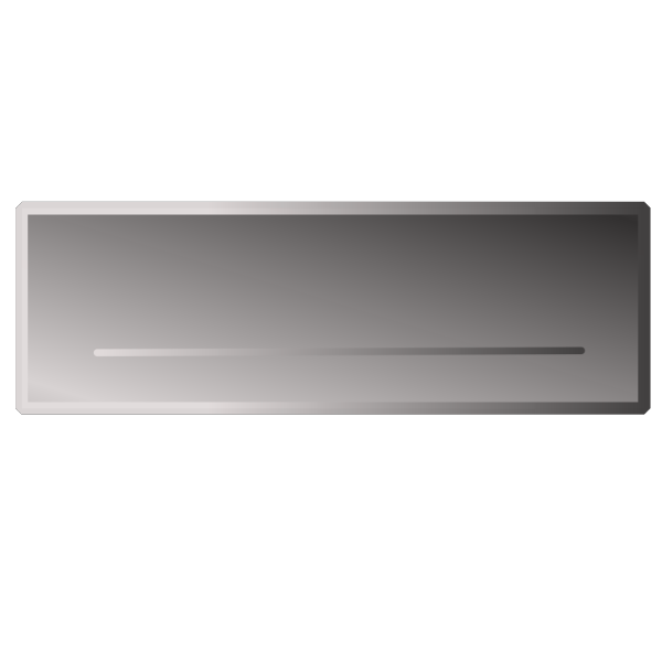 Silver Rectangle Button No Word PNG Clip art