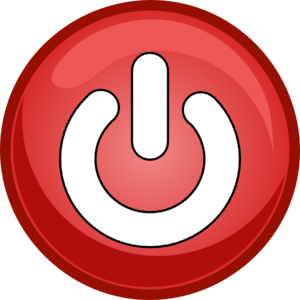 Power Button Red PNG Clip art