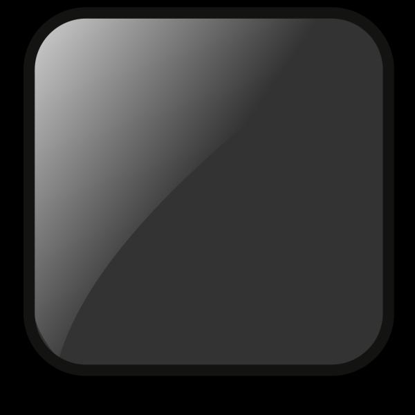 Blank Black Button 2 PNG Clip art