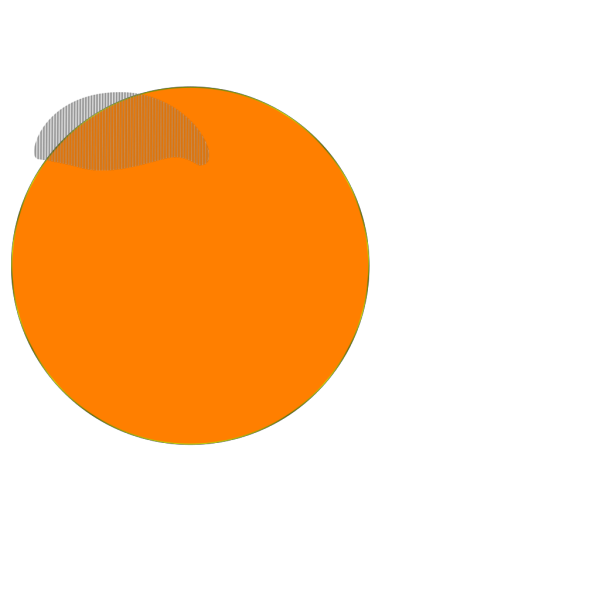 Orange Button 2 PNG image