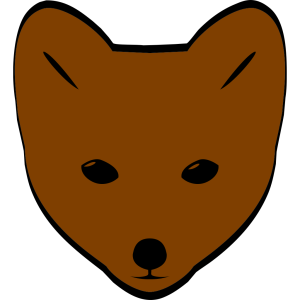 Brown Fox Face PNG Clip art