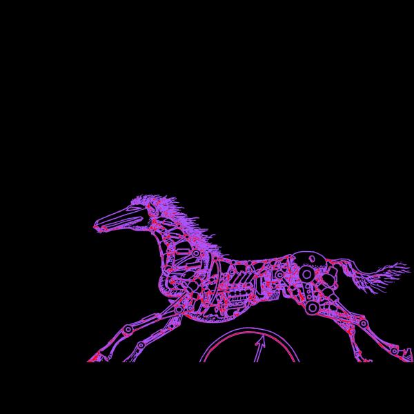 Purple Horse Running PNG Clip art