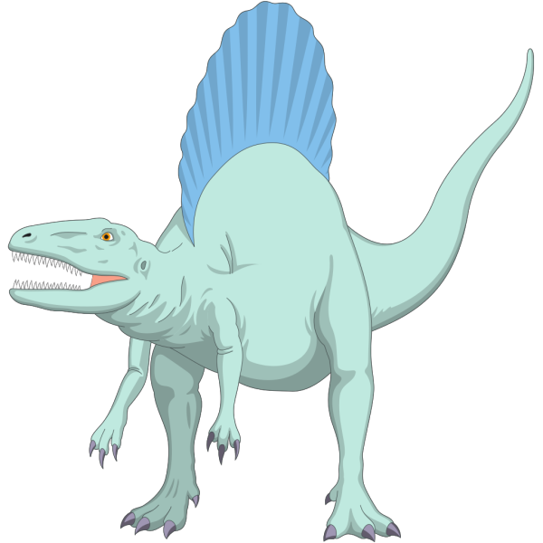Blue And Teal Spinosaurus PNG Clip art