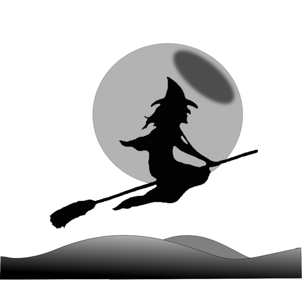 Witch Flying Moon PNG Clip art