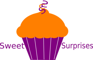 Cupcake Brown Orange Clip art