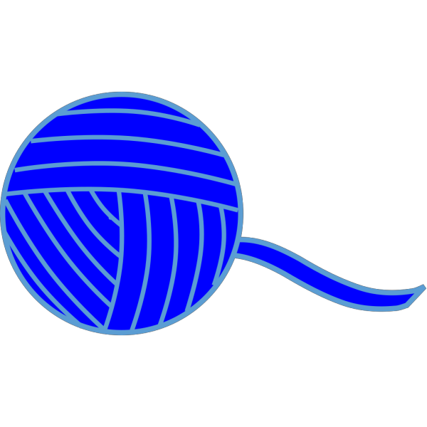 Blue Ball Of Yarn PNG Clip art