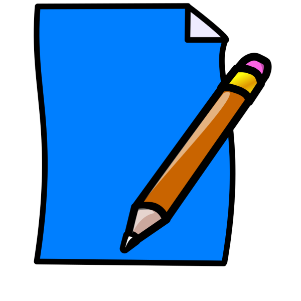 Blue Paper PNG Clip art