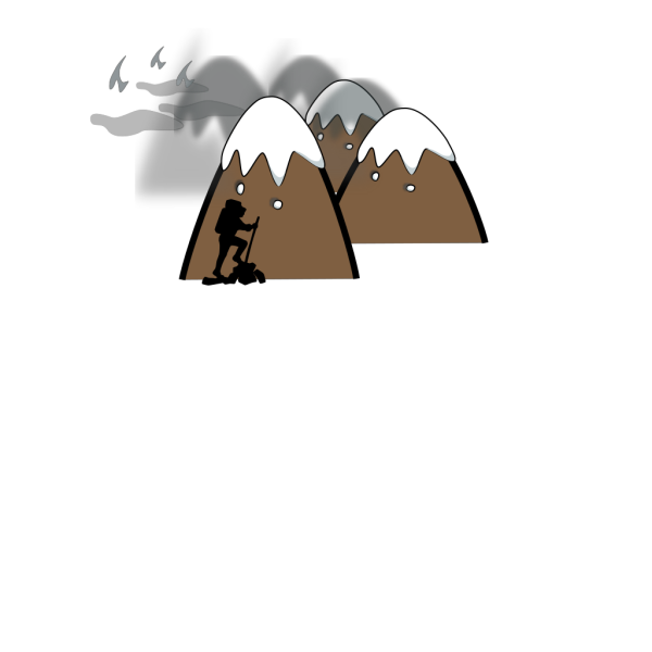 Brown Mountain With Sky And Clouds PNG Clip art