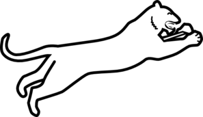 Panther Silhouette PNG Clip art