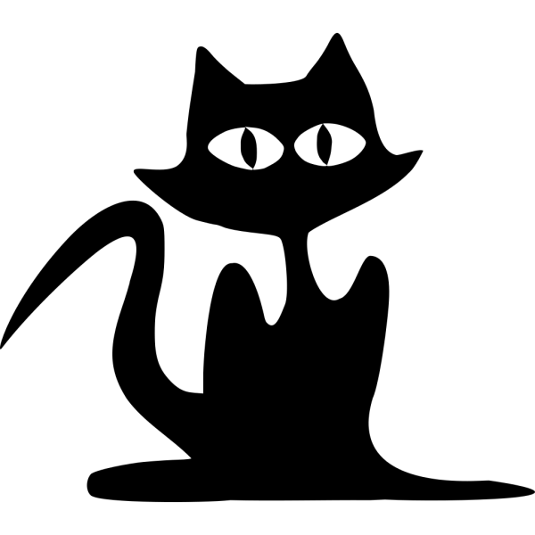 Cartoon Cat Silhouette PNG Clip art
