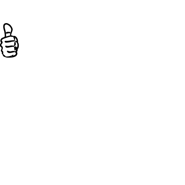 Thumbs Up Black Sand PNG images