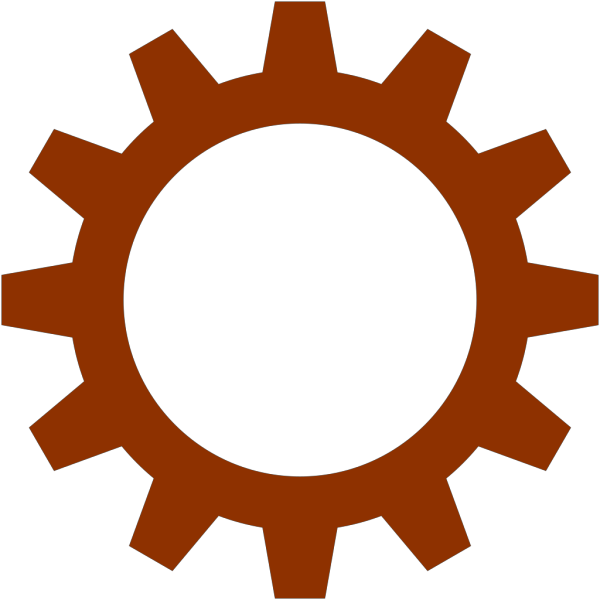 Chestnut Brown Cogwheel