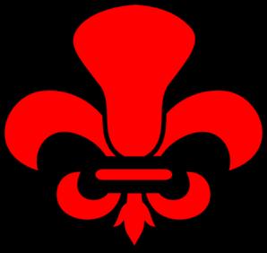 Red Fleur De Lax Black PNG Clip art