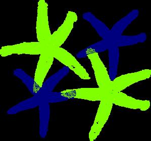 Starfish Prints 4 PNG Clip art