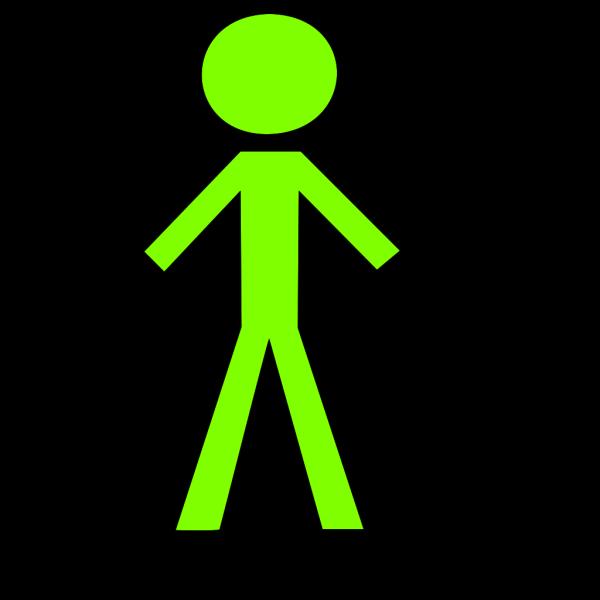 Black Stick Man 2 PNG Clip art