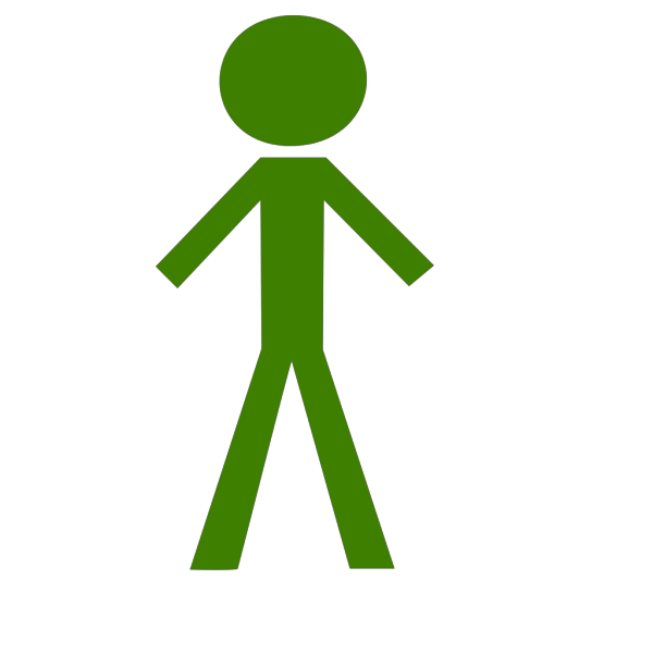 Black Stick Man Clip art