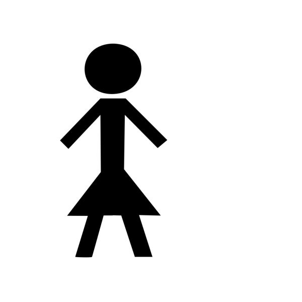 Black Stick Woman PNG Clip art