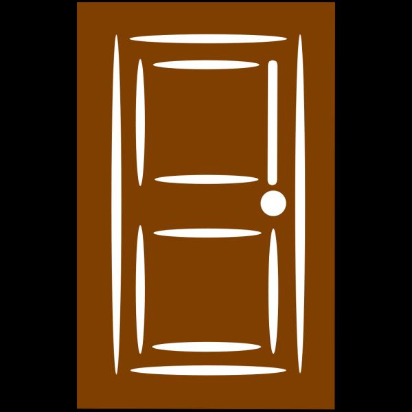 Brown Door PNG Clip art