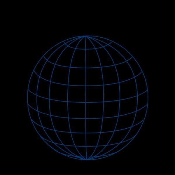 Big Blue Wire Globe PNG Clip art