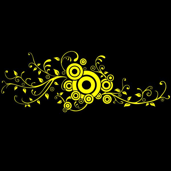 Swirl Brown Cross Clip art
