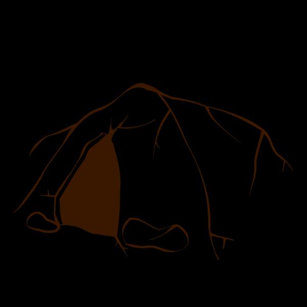 Dark Brown Cave PNG image
