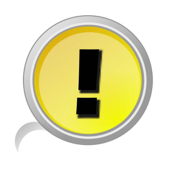 Warning Button PNG Clip art