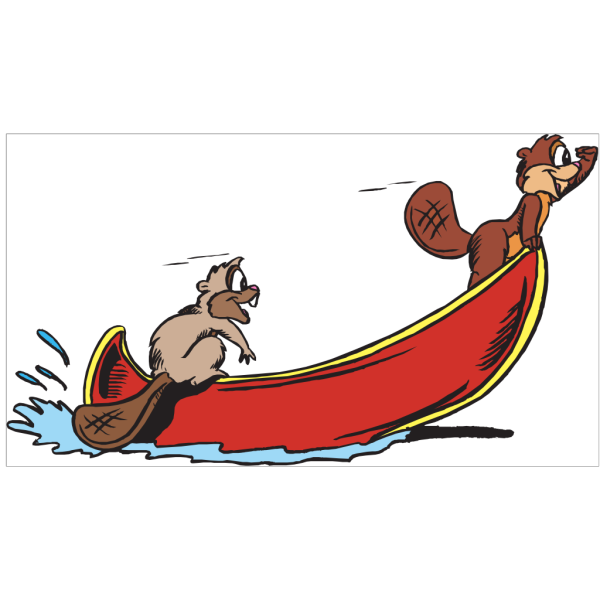 Beavers Rowing PNG Clip art
