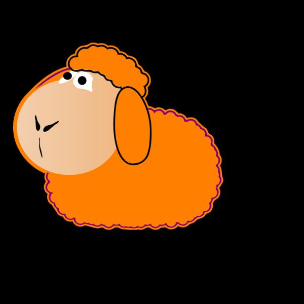 Orange Sheep PNG Clip art