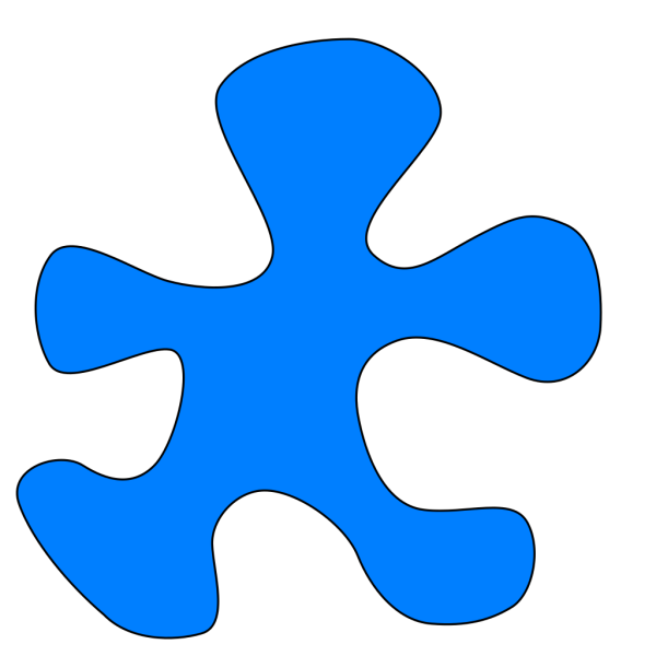 Puzzel Pice (blue) PNG icon