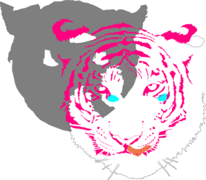 Bengal Tiger (white) PNG icons