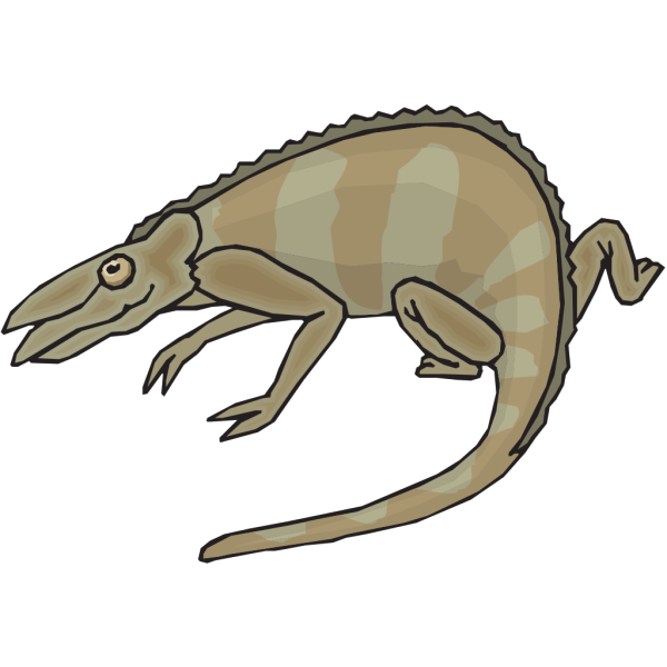 Brown And Gray Chameleon PNG images