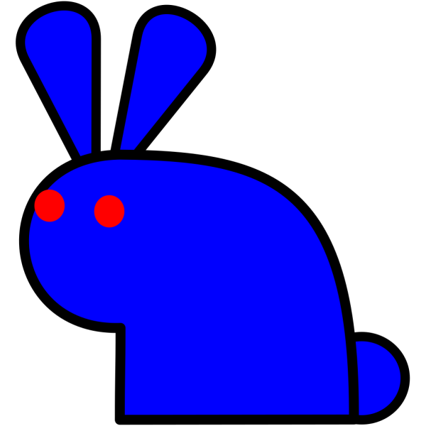 Blue Rabbit PNG Clip art