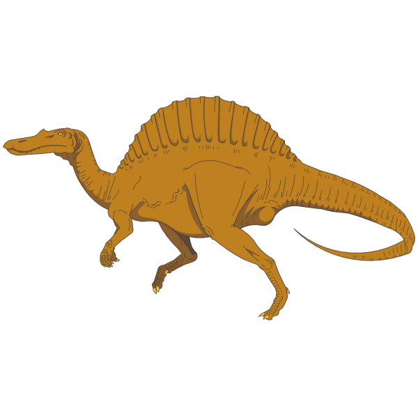 Brown Spinosaurus PNG Clip art