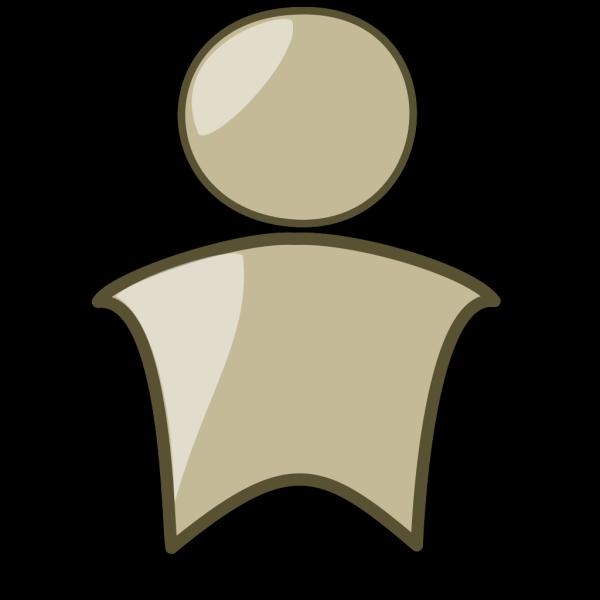 Head (brown) PNG Clip art