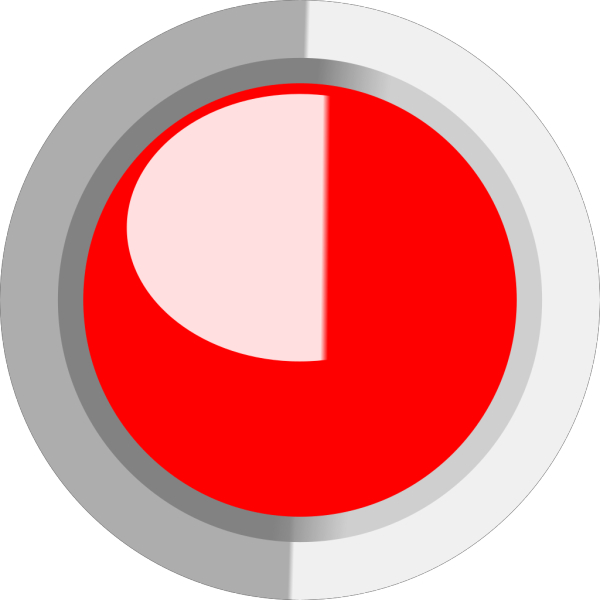 Red Led On (labview Style) PNG Clip art